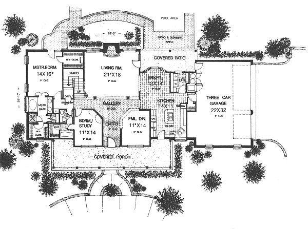 Country Floor Plan - Main Floor Plan Plan #310-623