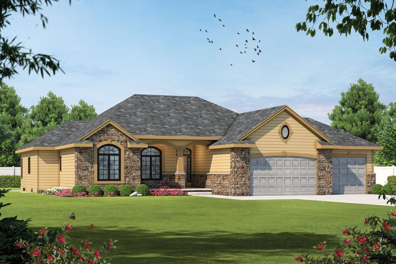 Traditional Exterior - Front Elevation Plan #20-2120