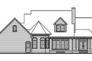European Style House Plan - 3 Beds 2.5 Baths 2259 Sq/Ft Plan #23-236 Exterior - Rear Elevation