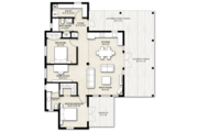Cabin Style House Plan - 2 Beds 2 Baths 1200 Sq/Ft Plan #924-14 Floor Plan - Main Floor Plan