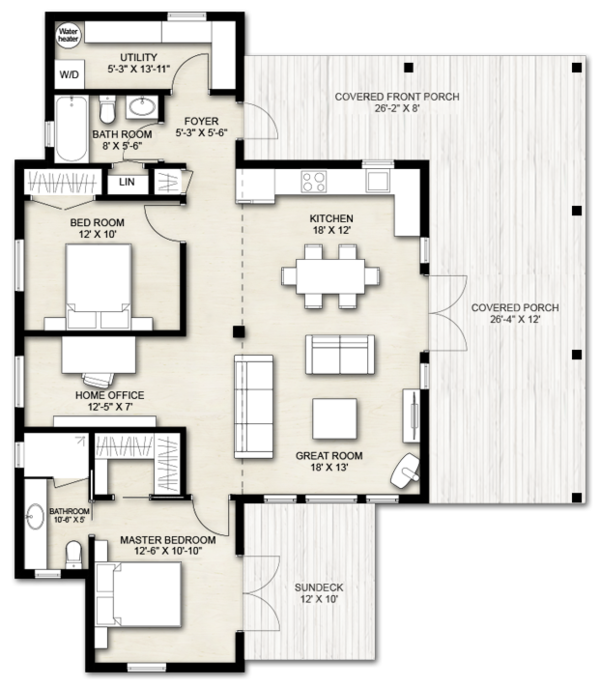 Cabin Floor Plan - Main Floor Plan Plan #924-14