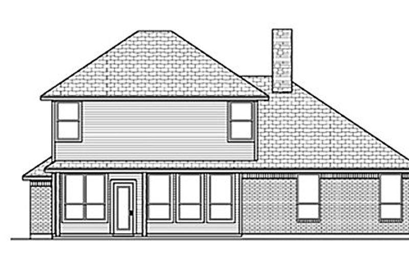 Traditional Exterior - Rear Elevation Plan #84-458 - Houseplans.com
