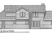 Traditional Style House Plan - 3 Beds 2.5 Baths 2124 Sq/Ft Plan #70-310 Exterior - Rear Elevation