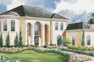 Home Plan - European Exterior - Front Elevation Plan #20-2045