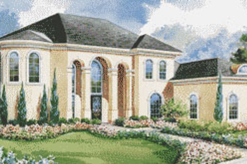 Home Plan Design - European Exterior - Front Elevation Plan #20-2045