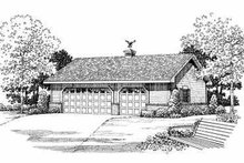 Traditional Exterior - Front Elevation Plan #72-278