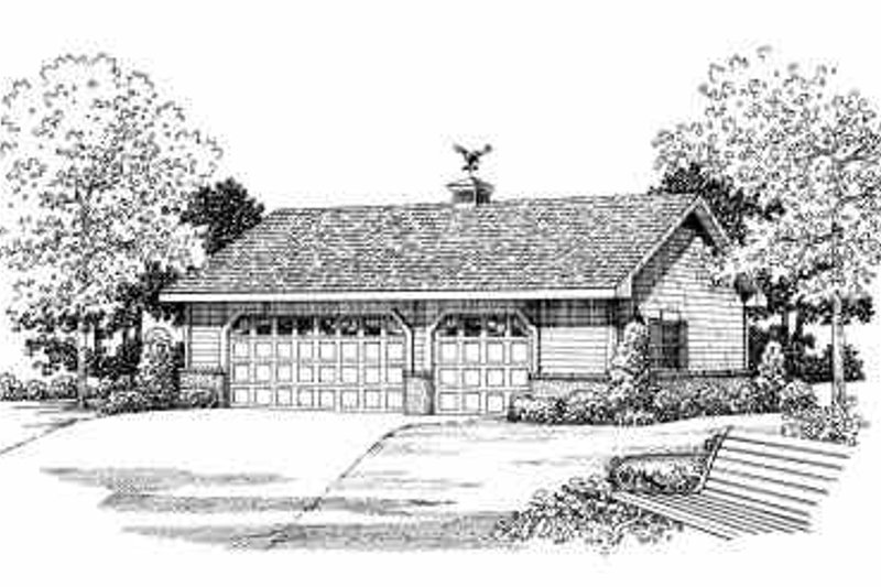 House Blueprint - Traditional Exterior - Front Elevation Plan #72-278