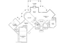 European Floor Plan - Lower Floor Plan Plan #5-454