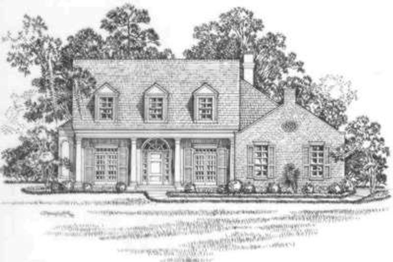 Southern Exterior - Front Elevation Plan #325-239