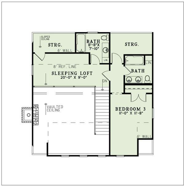 Country Floor Plan - Upper Floor Plan #17-2517