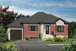 Contemporary Exterior - Front Elevation Plan #25-4591