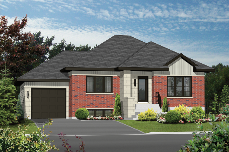 Contemporary Style House Plan - 2 Beds 1 Baths 1099 Sq/Ft Plan #25-4591 Exterior - Front Elevation