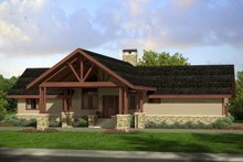 Craftsman Exterior - Front Elevation Plan #124-1019