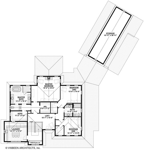 Craftsman Floor Plan - Upper Floor Plan Plan #928-312