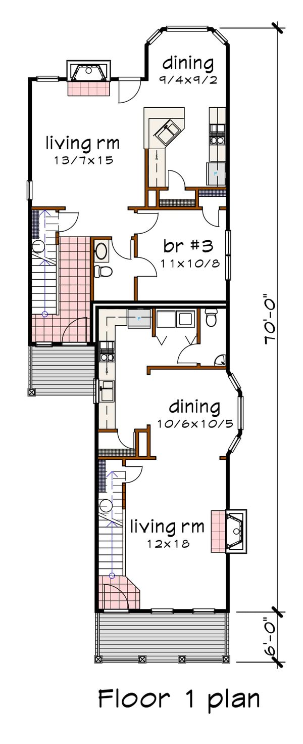 Dream House Plan - Cottage Floor Plan - Main Floor Plan #79-251