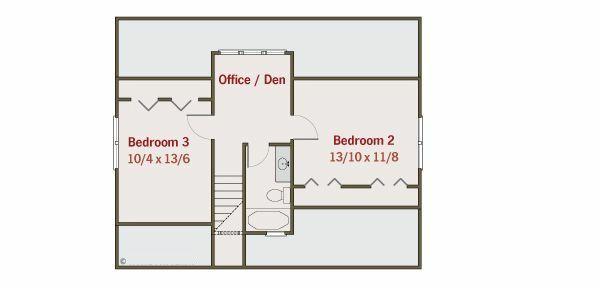 Craftsman Floor Plan - Upper Floor Plan #461-19