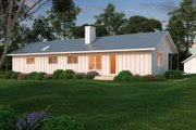 Ranch Style House Plan - 2 Beds 2 Baths 1480 Sq/Ft Plan #888-4 Exterior - Rear Elevation