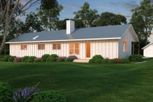 House Design - Ranch Exterior - Rear Elevation Plan #888-4