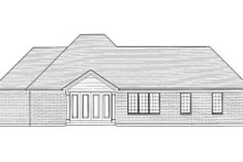 Dream House Plan - Traditional Exterior - Rear Elevation Plan #46-421