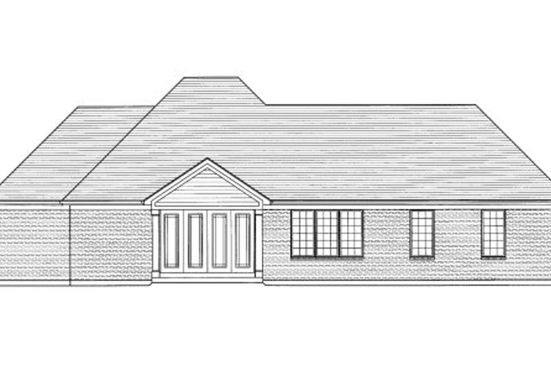 Traditional Exterior - Rear Elevation Plan #46-421 - Houseplans.com