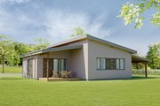 Modern Style House Plan - 3 Beds 1 Baths 902 Sq/Ft Plan #538-17 Exterior - Front Elevation