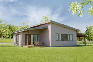 Modern Exterior - Front Elevation Plan #538-17