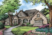 European Style House Plan - 4 Beds 4 Baths 3048 Sq/Ft Plan #929-1 Exterior - Front Elevation