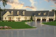 Ranch Style House Plan - 3 Beds 2.5 Baths 2830 Sq/Ft Plan #119-430 Exterior - Front Elevation
