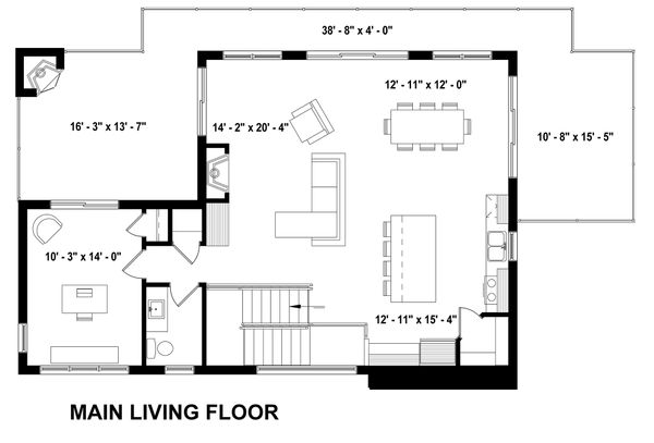 Living Level Inverted Floorplan