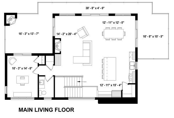 Living Level Inverted Floorplan