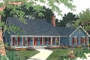 Country Style House Plan - 3 Beds 2.5 Baths 2190 Sq/Ft Plan #406-151 Exterior - Front Elevation