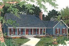 Architectural House Design - Country Exterior - Front Elevation Plan #406-151