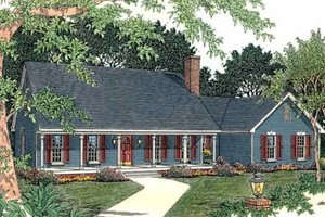 Country Exterior - Front Elevation Plan #406-151