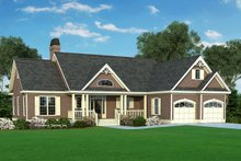 Country Exterior - Front Elevation Plan #929-314