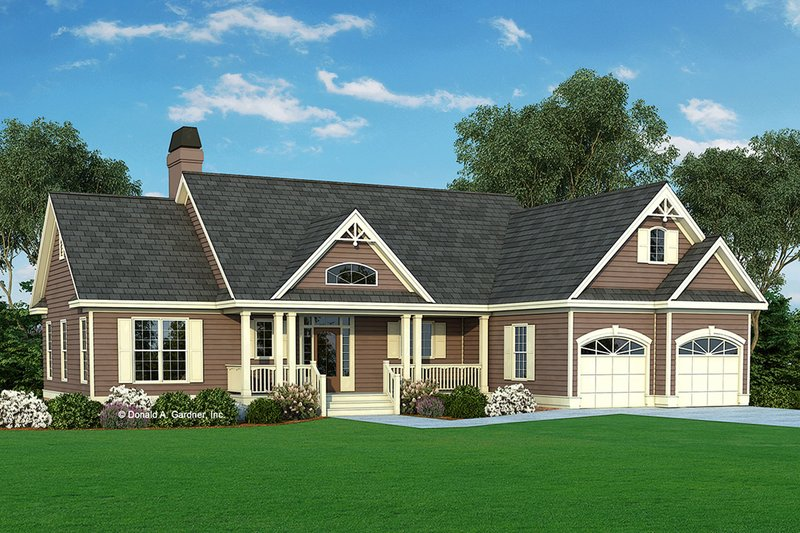 Country Style House Plan - 3 Beds 2 Baths 1517 Sq/Ft Plan #929-314
