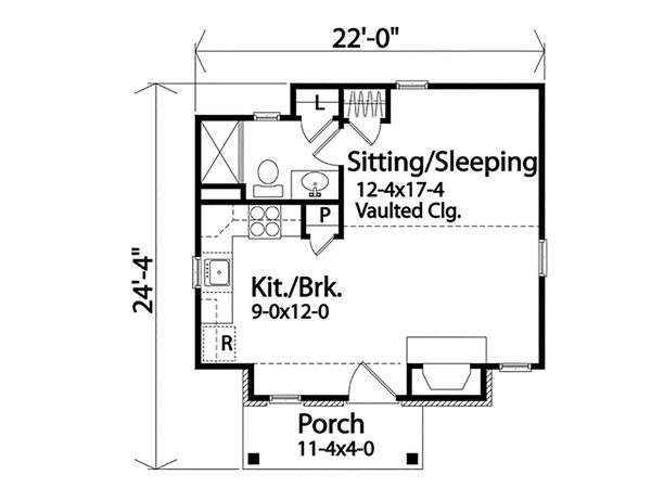 House Plan Design - Cottage Floor Plan - Main Floor Plan #22-594