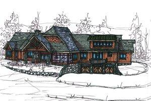 Craftsman Exterior - Front Elevation Plan #921-4