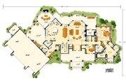 Prairie Style House Plan - 4 Beds 4.5 Baths 4520 Sq/Ft Plan #942-37 Floor Plan - Main Floor Plan