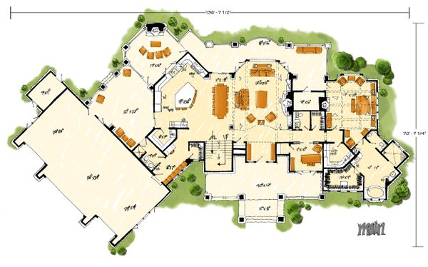 Prairie Floor Plan - Main Floor Plan Plan #942-37