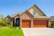 Traditional Style House Plan - 3 Beds 3 Baths 2081 Sq/Ft Plan #65-513 Exterior - Front Elevation