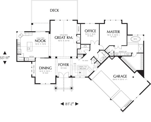 Craftsman Floor Plan - Main Floor Plan #48-467