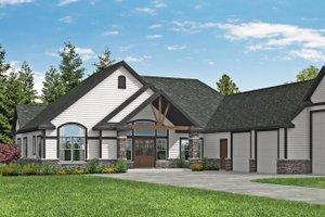 Craftsman Exterior - Front Elevation Plan #124-1182