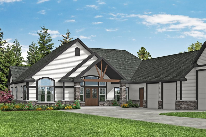 Home Plan - Craftsman Exterior - Front Elevation Plan #124-1182