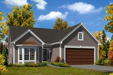 Cottage Exterior - Front Elevation Plan #57-619