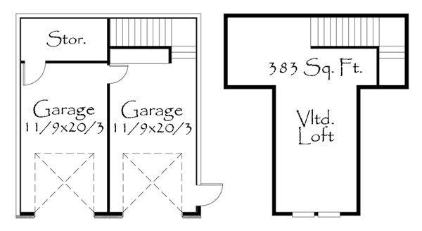 Craftsman Floor Plan - Other Floor Plan Plan #509-24