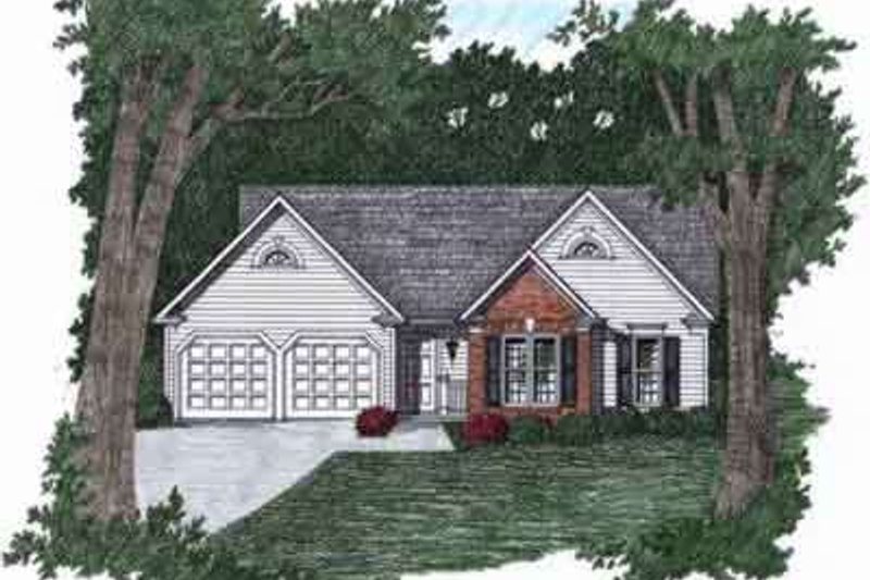 Traditional Style House Plan - 3 Beds 2 Baths 1170 Sq/Ft Plan #129-142 Exterior - Front Elevation