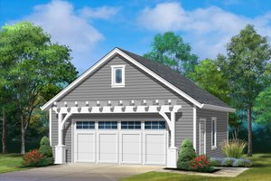 Country Exterior - Front Elevation Plan #22-601