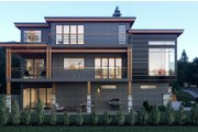 Contemporary Style House Plan - 5 Beds 5.5 Baths 5185 Sq/Ft Plan #1066-34 Exterior - Rear Elevation
