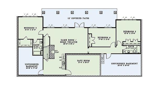 European Floor Plan - Lower Floor Plan Plan #17-2567
