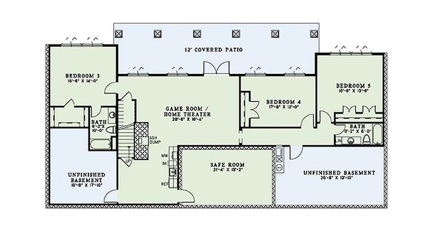 European Floor Plan - Lower Floor Plan #17-2567